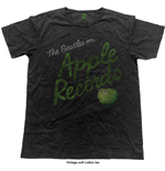 The Beatles Men's Fashion Tee: Apple Records (Vintage Finish)