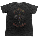 Guns N' Roses Men's Fashion Tee: Appetite Cross (Vintage Finish)