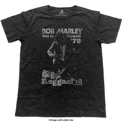 Bob Marley Men's Fashion Tee: Hawaii (Vintage Finish)