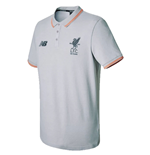 2017-2018 Liverpool Media Motion Polo Shirt (Grey) - no sponsor