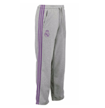 2017-2018 Real Madrid Adidas 3S Sweat Pants (Grey)