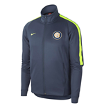 2017-2018 Inter Milan Nike Authentic Franchise Jacket (Thunder Blue)
