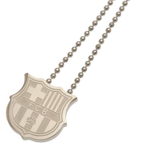 F.C. Barcelona Stainless Steel Pendant & Chain