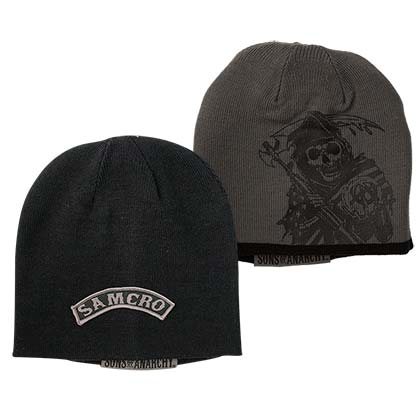 SONS OF ANARCHY Reversible Black and Grey Beanie