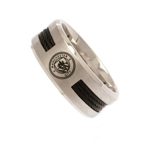 Manchester City F.C. Black Inlay Ring Large
