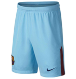 2017-2018 Barcelona Away Nike Football Shorts Blue (Kids)