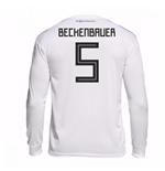 2018-19 Germany Home Long Sleeve Shirt (Beckenbauer 5)