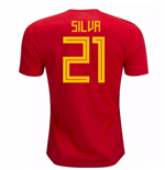 2018-19 Spain Home Shirt (Silva 21) - Kids