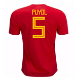 2018-19 Spain Home Shirt (Puyol 5)