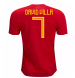 2018-19 Spain Home Shirt (David VIlla 7)
