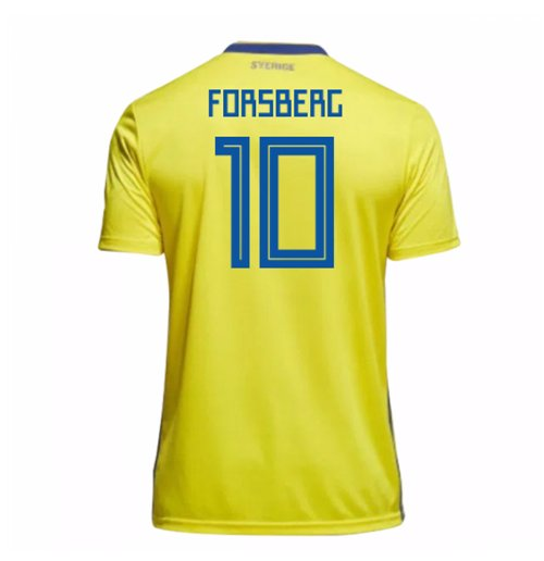 2018-19 Sweden Home Shirt (Forsberg 10)