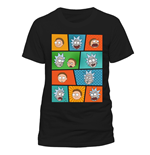 Rick and Morty T-Shirt Pop Art Faces