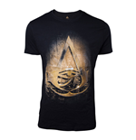 ASSASSIN'S CREED Origins Men's Hieroglyph Crest T-Shirt, Medium, Black