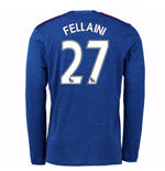 2016-17 Man United Away Long Sleeve Shirt (Fellaini 27)