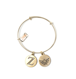 Zelda - Bracelet With Z & Triforce Charms
