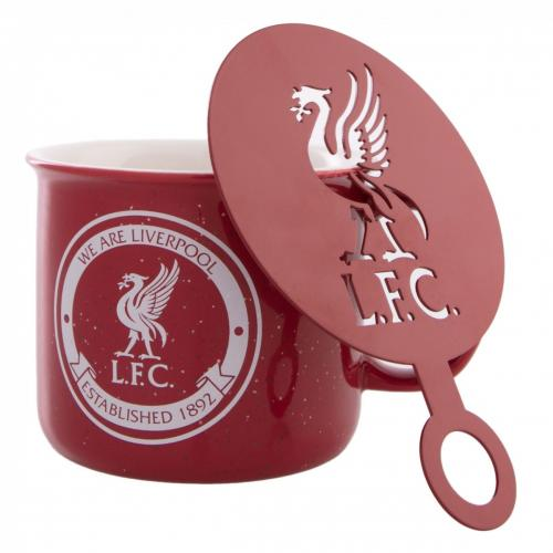 Liverpool F.C. Tin Mug and Stencil Set