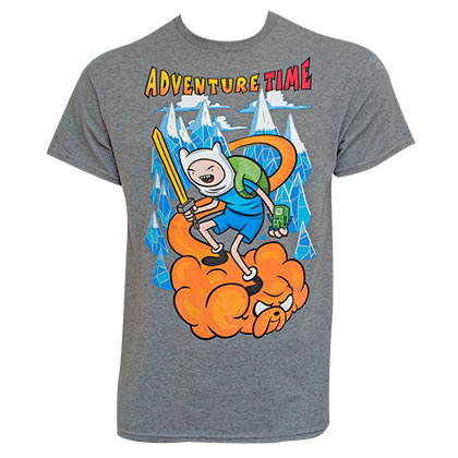 ADVENTURE TIME Jake Cloud Grey Tee Shirt