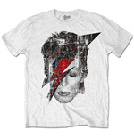 David Bowie T-shirt - Halftone Flash Face
