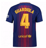 2017-2018 Barcelona Home Shirt (Guardiola 4)