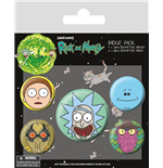 Rick and Morty Pin Badges 5-Pack Heads