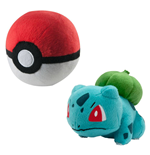 Pokemon Plush Figure Bulbasaur with Poke Ball 15 cm