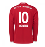 2016-17 Bayern Munich Long Sleeve Home Shirt (Robben 10)