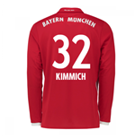 2016-17 Bayern Munich Long Sleeve Home Shirt (Kimmich 32)