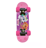 PAW PATROL Kid's 17-Inch Maple Wood Mini Skateboard Cruiser, Black/Pink