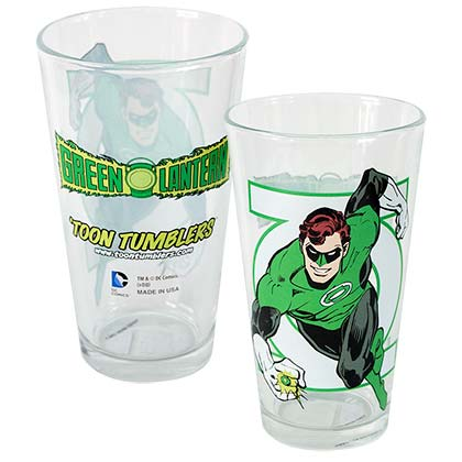 GREEN LANTERN Toon Tumbler Pint Glass