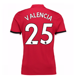 2017-2018 Man United Home Shirt (Valencia 25)