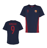 Official Barcelona Training T-Shirt (Navy) (Ronaldo 9)