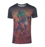 DOOM Men's Box Art Sublimation T-Shirt, Medium, Multi-colour