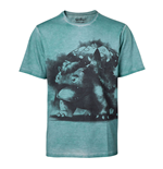 POKEMON Men's Venusaur Oil Washed T-Shirt, Extra Large, Turquoise