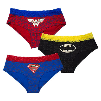DC Comics Women's 3-Pack Panties