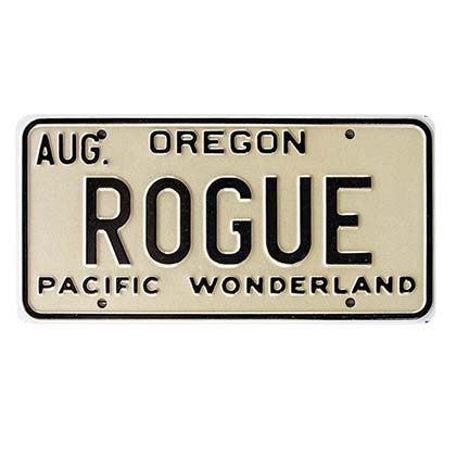 Rogue Ale Beer License Plate Sign