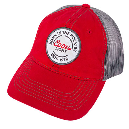 COORS Banquet Red Mesh Snapback Hat