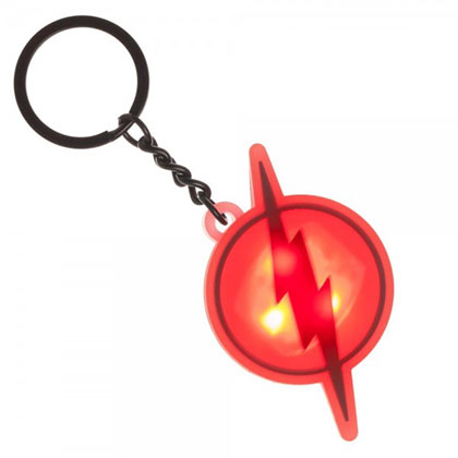 The FLASH Light Up Logo Keychain