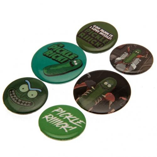Rick And Morty Button Badge Set Pickle Rick