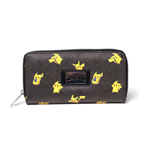 POKEMON Girl's Pikachu Bi-fold Wallet with All-around Zipper, Yellow