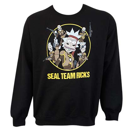 Rick And Morty Seal Team Black Sweatshirt