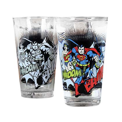 DC Comics JUSTICE LEAGUE Color Changing Pint Glass