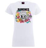 Ramones Ladies Tee: Circle Flowers
