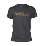 Queens Of The Stone Age T-shirt Text Logo (METALLIC)