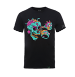Rick And Morty X Absolute Cult T-shirt Eyeball Skull (BLACK)