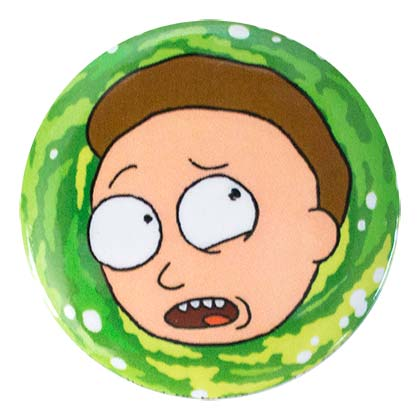 Rick And Morty Round Morty Button