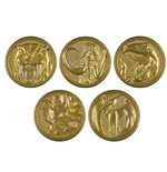 Power Rangers Legacy Die-Cast Premium Power Coin Set
