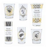Game of Thrones Glass Set  - Black And Gold Premium