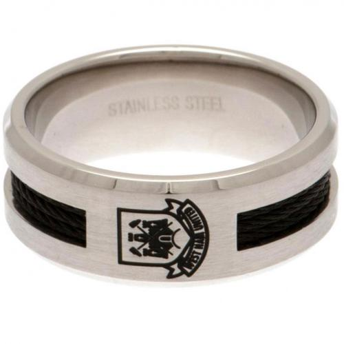 West Ham United F.C. Black Inlay Ring Large CT