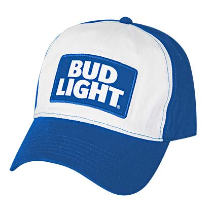 BUD LIGHT Blue and White Baseball Hat
