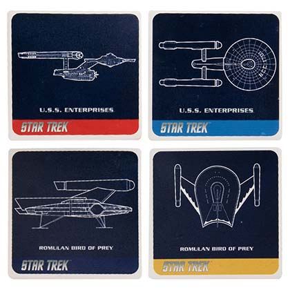 STAR TREK Ceramic Coaster Set